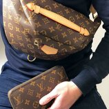 Мужская кожаная сумка на пояс Louis Vuitton. Бананка Louis Vuitton
