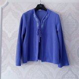 Размер 12-14 Необычная фирменная флисовая домашняя кофта с вышивкой