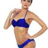 Ярко-Синий кружевной бренда М&м , бандо , пуш-ап класса люкс 75вМ