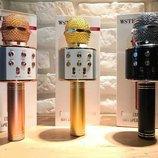 Bluetooth микрофон-караоке WS-858 с динамиком колонкой , слотом USB и FM тюнером