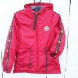 Куртка ветровка для девочки, 100-140 см