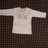 Новый белый лонгслив Benetton baby 1-3 мес/56 см