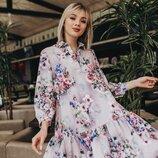 Красивое весеннее платье 42 - 46 расцветки разные