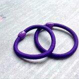 Резинка гладкая с бочонком,цвет фиолетовый,d 5 см