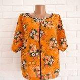 Красивая блуза из фактурной ткани M&S UK 16 в идеальном состоянии