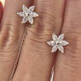 Серьги серебряные сережки протяжки 2234