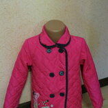 стеганая ветровочка,куртка с пеппой на девочку 4-5 лет