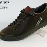 Туфли мужские кожаные Cardio 080 Olive 40-45