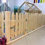 Заборчики деревянные детские цена за секцию