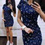 Платье с капюшоном три расцветки
