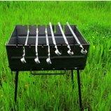 Мангал чемодан на 8 шампуров УК-М8