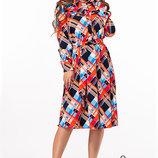 Стильное принтованое женское платье