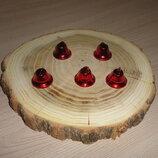Колокольчик Красный 2 см 5 шт