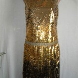 Красивое платье золотые пайетки 12p