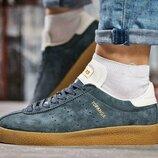 Кроссовки Adidas стелька 24 см- последний размер, унисекс, замша натуральная