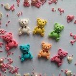 Сахарные медвежата для украшения кондитерских изделий