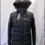 Зимняя мужская куртка удлиненная, новинка 4Хл