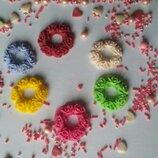 Сахарные цветочные веночки для украшения пасхальных куличей, для свечки