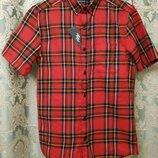 Красивая рубашка в яркую клетку шведка Cedarwood State р.XS