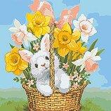 Картина по номерам.Животные, птицы Весенний подарок 40 50см KHO4112