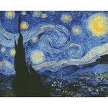 Алмазная вышивка. Звездная ночь Винсент Ван Гог 40 50см AM6002