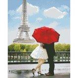 Алмазная вышивка. Любовь в Париже 40 50см AM1011