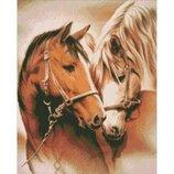 Алмазная вышивка. Пара лошадей 40 50см AM3003