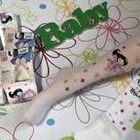 Белые колготки DayMod с ярким принтом на девочку 5-6 лет и 9-10 лет, 75 грн