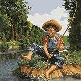 Картина по номерам. Дети Маленький рыбак 40 50см KHO2331