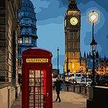 Картина по номерам. Городской пейзаж Вечерний Лондон 2 35 50см. KHO3546