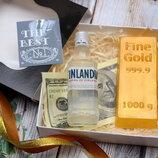 Мыло ручной работы для мужчин, слиток золота