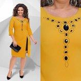 Платье Модель 658 Ткань трикотаж Размеры 48-50, 50-52, 52-54