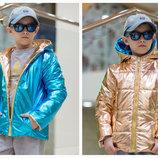Детская Двухсторонняя куртка унисекс,Рост 98-104,104-110,110-116,116-122,122-128,128-134