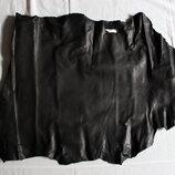 Натуральная кожа одежная черная 0,4-0,7 мм для пошива одежды, сумок