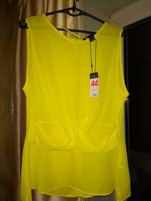 Шикарная лимонная Блуза primark 48-50 размер Испания Мадрид