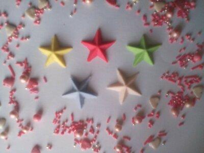 Сахарные звездочки для украшения кондитерских изделий, цена за 4 шт.