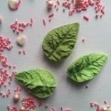 Сахарные листики двухсторонние, средние, для украшения кондитерских изделий, Цена за 2 шт.- 1 грн.