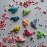 Сахарные птички, для украшения кондитерских изделий, Цена за 10 шт.- 3 грн. размер на фото. Цвета