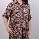 Красивое платье-рубашка больших размеров Палма, 50-64размеры.