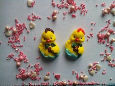 Сахарные утята в яйце для украшения кондитерских изделий, Цена за 1 шт.- 1 грн. размер на фото