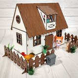 Кукольный домик для лол с мебелью, текстилем и светом