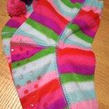 -Новые флисовые носки-тапки слиппер-сокс Сша 19-20см по стопе