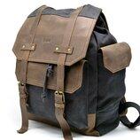 Акция ̶2̶3̶2̶5̶ 2200 Рюкзак натуральная лошадиная кожа,канвас Бесплатная доставка TARWA RG-6680-4lx