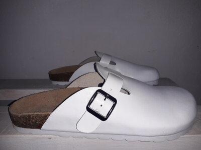 Медецинская обувь, кожаные мужские шлепанцы Job Style