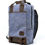 Акция ̶2̶3̶0̶4̶ 2180 Рюкзак натуральная кожа и канвас Бесплатная доставка TARWA RK-1210-4lx