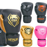 Перчатки боксерские на липучке Venum 8351 8-12 унций, PU 7 цветов