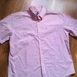 Рубашка в мелкую красную клетку Tommy Hilfiger