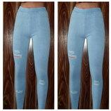 6 цветов Очень красивые женские джеггинсы - джинсы С-М ,Л-ХЛ