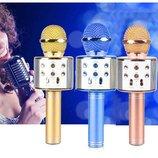беспроводной караоке микрофон с динамиком и с usb