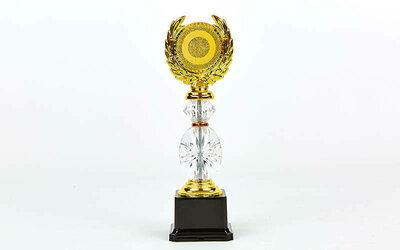 Награда спортивная с местом под жетон YK-138 приз спортивный пластик, высота 26см золото